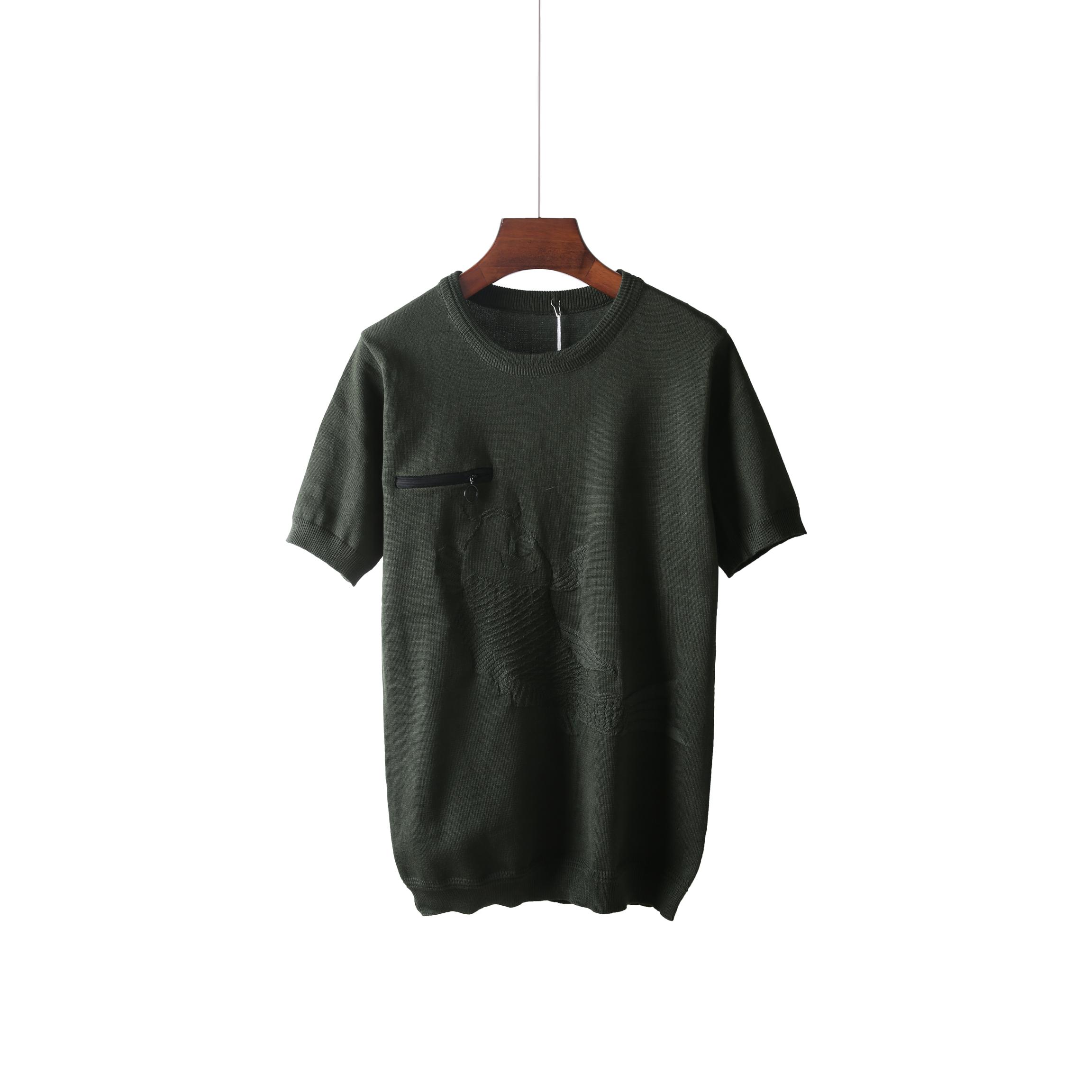 t恤男短袖 夏季休闲款针织短袖男圆领修身弹力半袖T恤打底男士短袖T恤8843_推荐淘宝好看的t恤男短袖