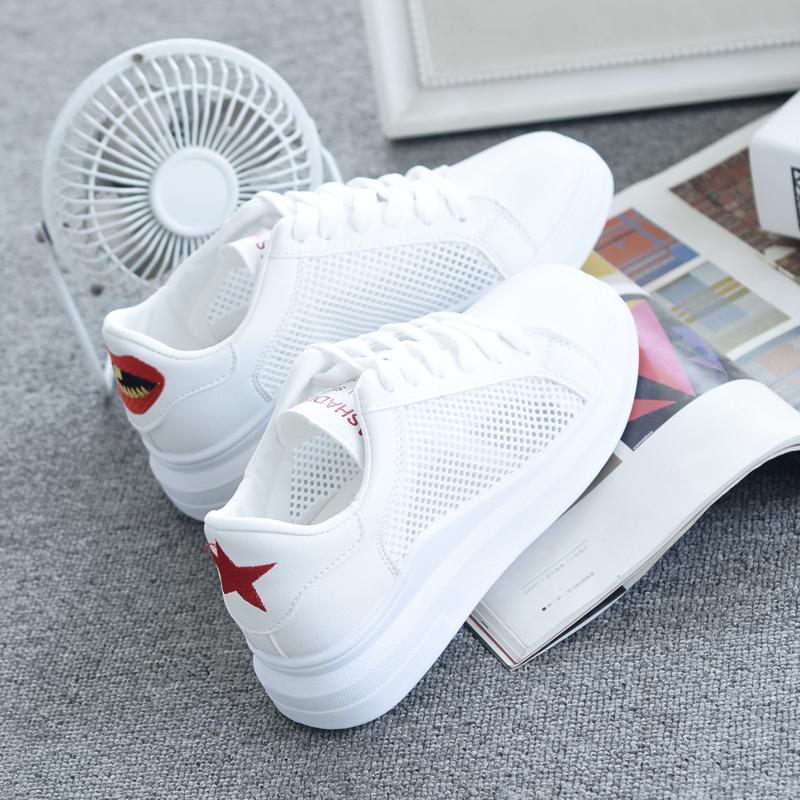 白色运动鞋 天天特价白色鞋夏季女2017新款百搭学生韩版运动网鞋女透气小白鞋_推荐淘宝好看的白色运动鞋
