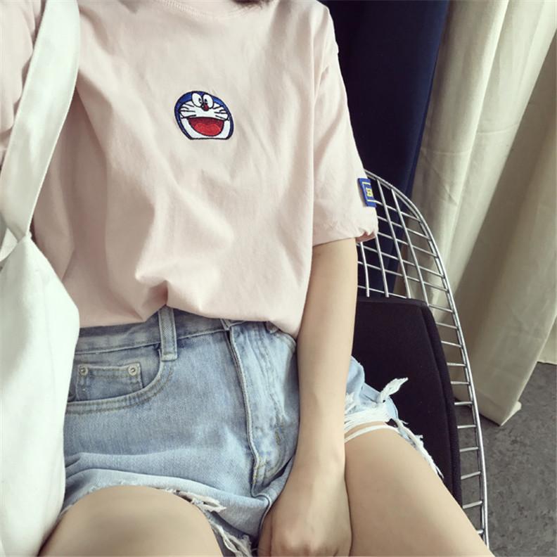 个性t恤 ulzzang韩国INS同款个性印花宽松T恤短袖女潮bf风学生显瘦上衣潮_推荐淘宝好看的女个性t恤