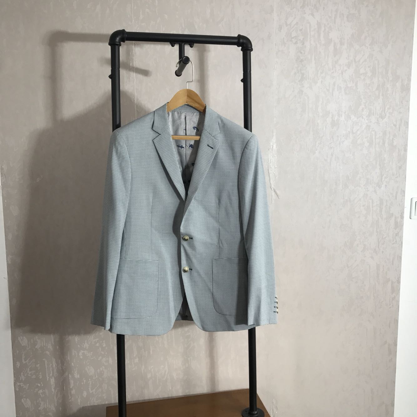 男士西装 太亏了18新款男士修身薄款千鸟格西服外套百搭休闲单西装品牌剪标_推荐淘宝好看的男西装
