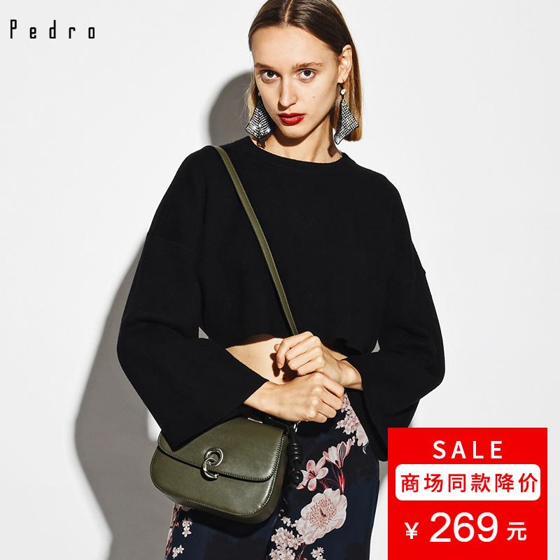黑色单肩包 PEDRO 女士绳结装饰金属圆环单肩包 PW2-55210004_推荐淘宝好看的黑色单肩包