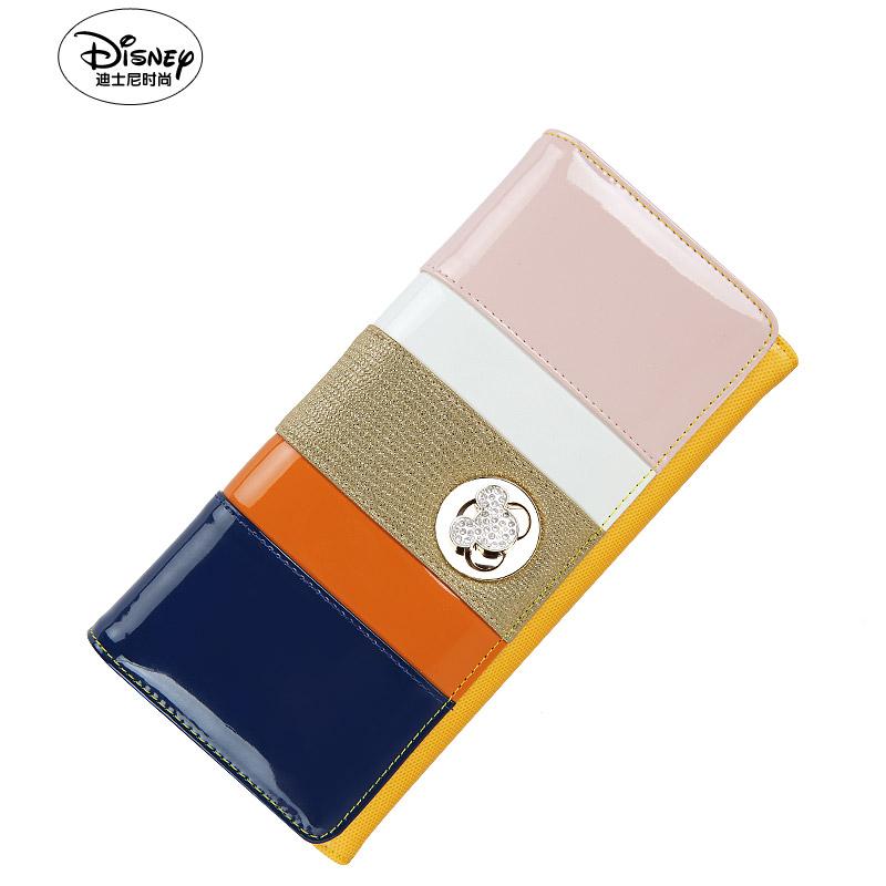 撞色糖果包 Disney迪士尼米奇专柜正品糖果撞色时尚长款女士钱包AP2209-02_推荐淘宝好看的撞色糖果包