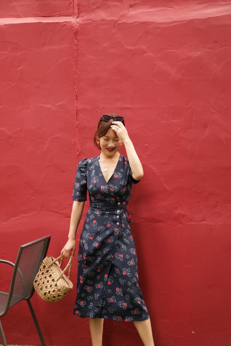 绿色连衣裙 LOLI LOLI  两色入 法式复古 一片式 围裙连衣裙_推荐淘宝好看的绿色连衣裙