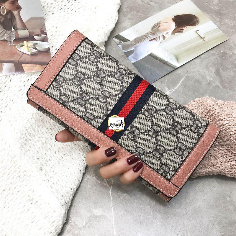 红色钱包 2018新款欧美时尚长款钱包女大容量手拿包多功能钱夹卡包零钱包_推荐淘宝好看的红色钱包