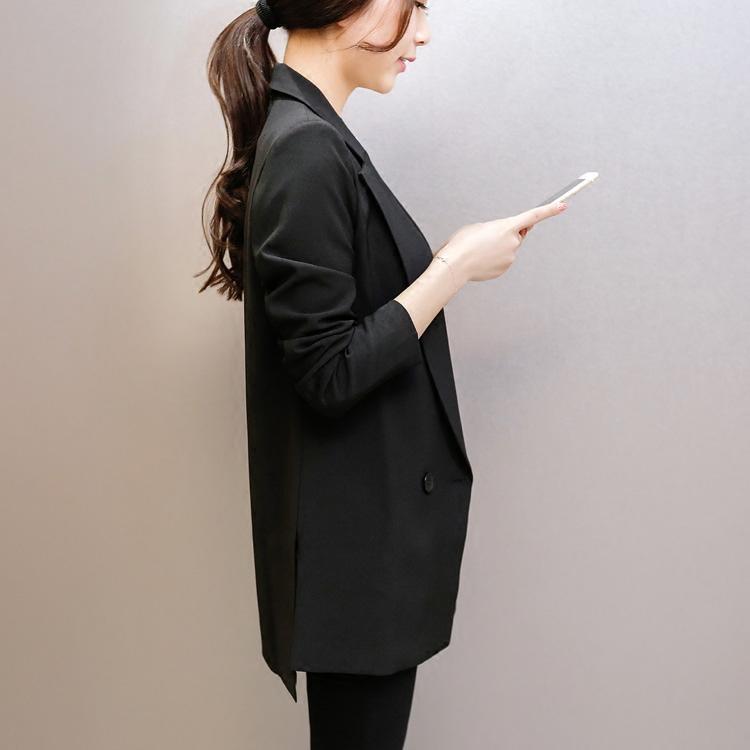 女士小西服 2018春季女装新款气质修身中长款小西服女士休闲显瘦西装外套_推荐淘宝好看的女小西装