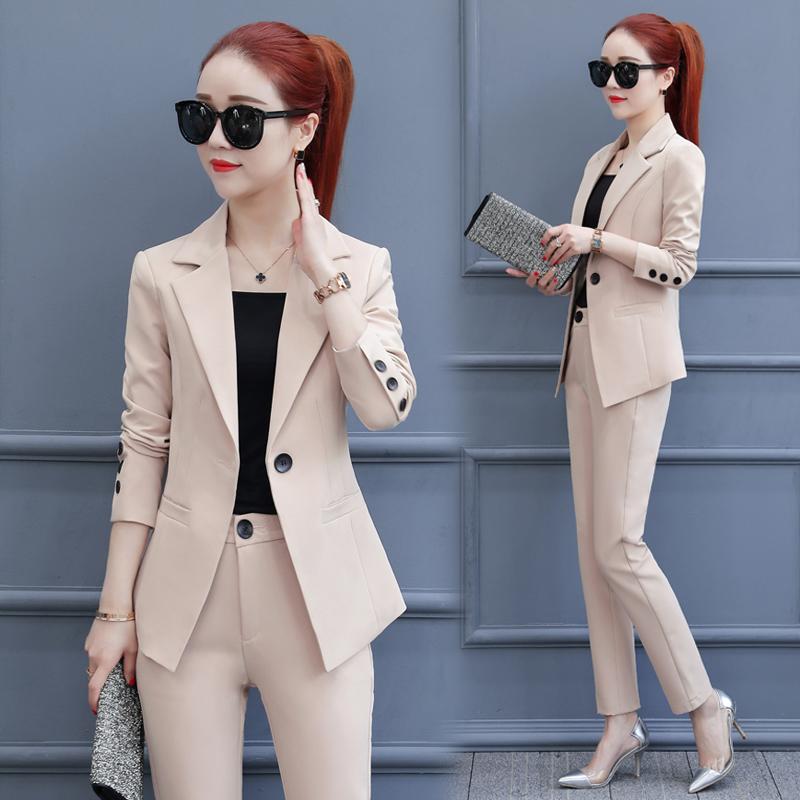 女士小西服 小西装女外套2018春装新款韩版时髦气质时尚职业装西装套装两件套_推荐淘宝好看的女小西装