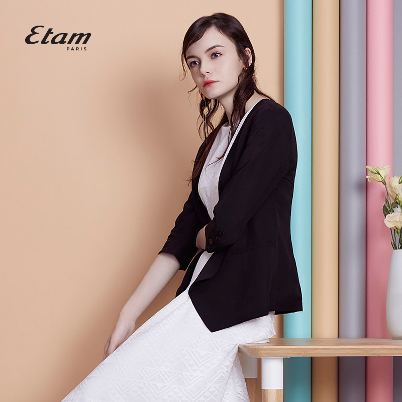 艾格服饰 艾格Etam  时尚知性修身西装外套女17012110695_推荐淘宝好看的艾格女