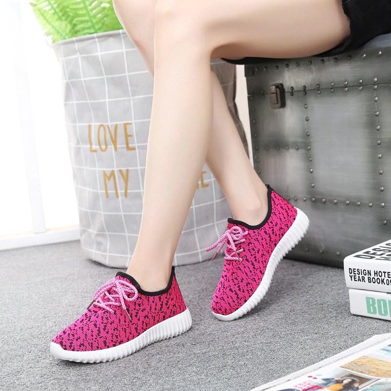 紫色运动鞋 妇女运动鞋女平跟女式老年人韩版板鞋懒人紫色网眼系带中老年休闲_推荐淘宝好看的紫色运动鞋