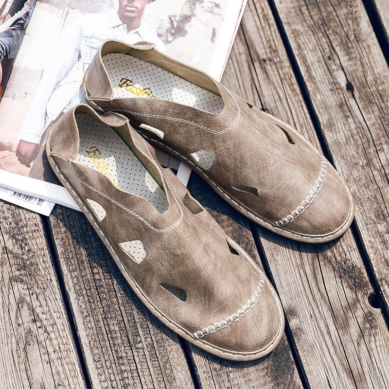绿色豆豆鞋 2018新款夏季英伦男鞋绿色皮鞋青春潮流豆豆鞋男士休闲鞋百搭潮鞋_推荐淘宝好看的绿色豆豆鞋