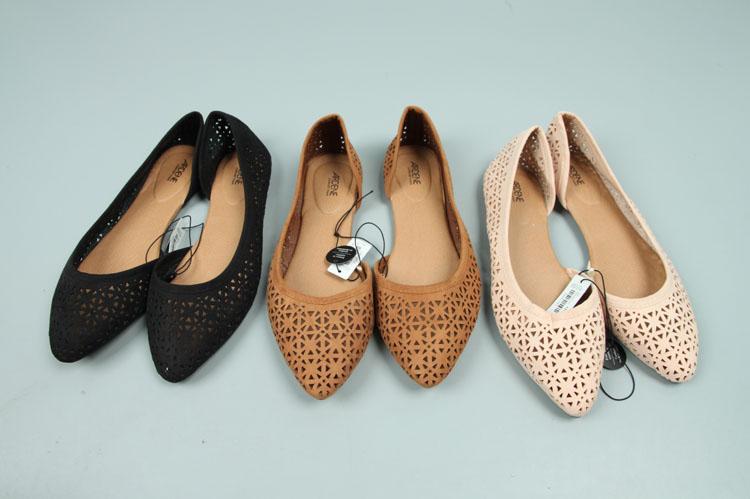 镂空平底尖头鞋 尖头半空平底凉鞋女镂空韩版女鞋_推荐淘宝好看的镂空平底尖头鞋