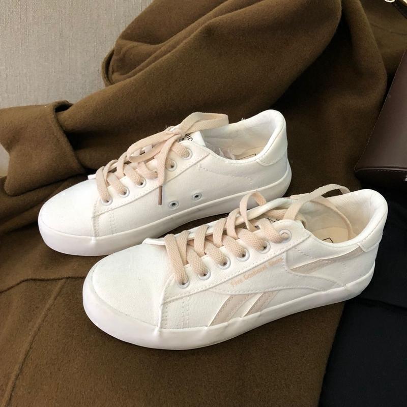白色帆布鞋 泡面小希鞋子 韩国ulzzang复古街拍肉粉色平底港风学生白色帆布鞋_推荐淘宝好看的白色帆布鞋