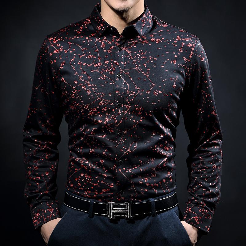 男装衬衫 蓝色剑鱼 春装新品时尚休闲长袖男丝光棉衬衣商务棉免烫衬衫包邮_推荐淘宝好看的男衬衫