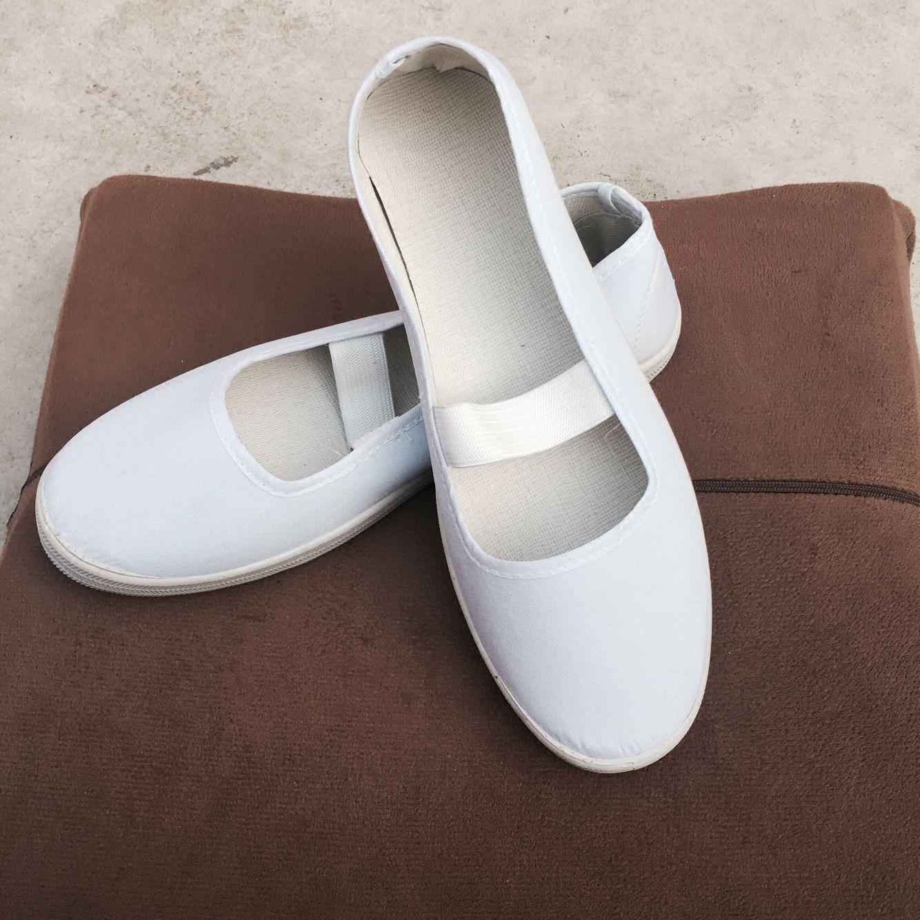 白色帆布鞋 白事鞋丧事女鞋殡葬用鞋女白孝鞋女士帆布白鞋青鞋孝鞋女白色白鞋_推荐淘宝好看的白色帆布鞋