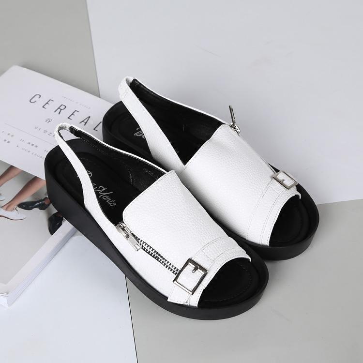 沙滩凉鞋 夏季新品 舒适平底凉鞋 厚底女鞋沙滩鞋_推荐淘宝好看的女沙滩凉鞋