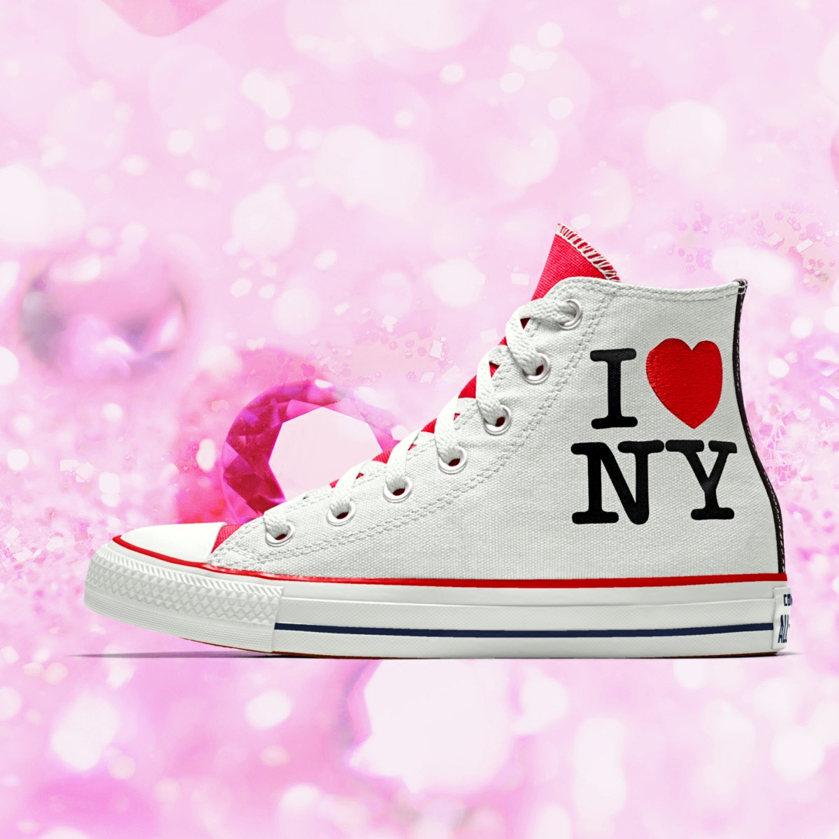 匡威情侣帆布鞋 代购匡威板鞋男女Converse All Star I Love New York情侣帆布鞋_推荐淘宝好看的女匡威情侣帆布鞋