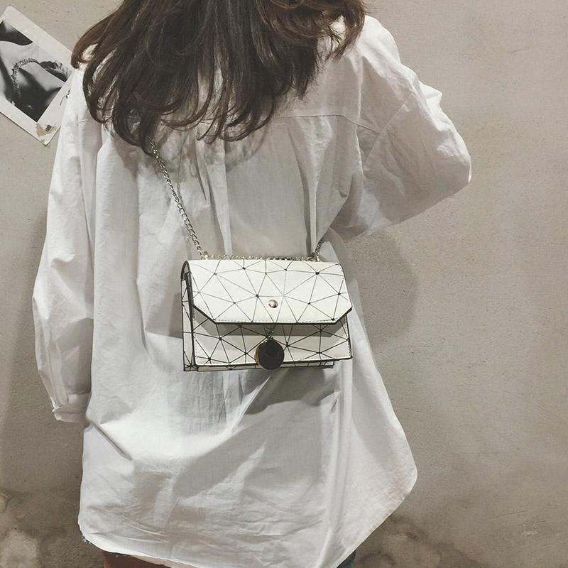 女式链条包 ins包包女2018夏季新款韩版百搭链条斜挎包迷你少女小方包单肩包_推荐淘宝好看的女女链条包