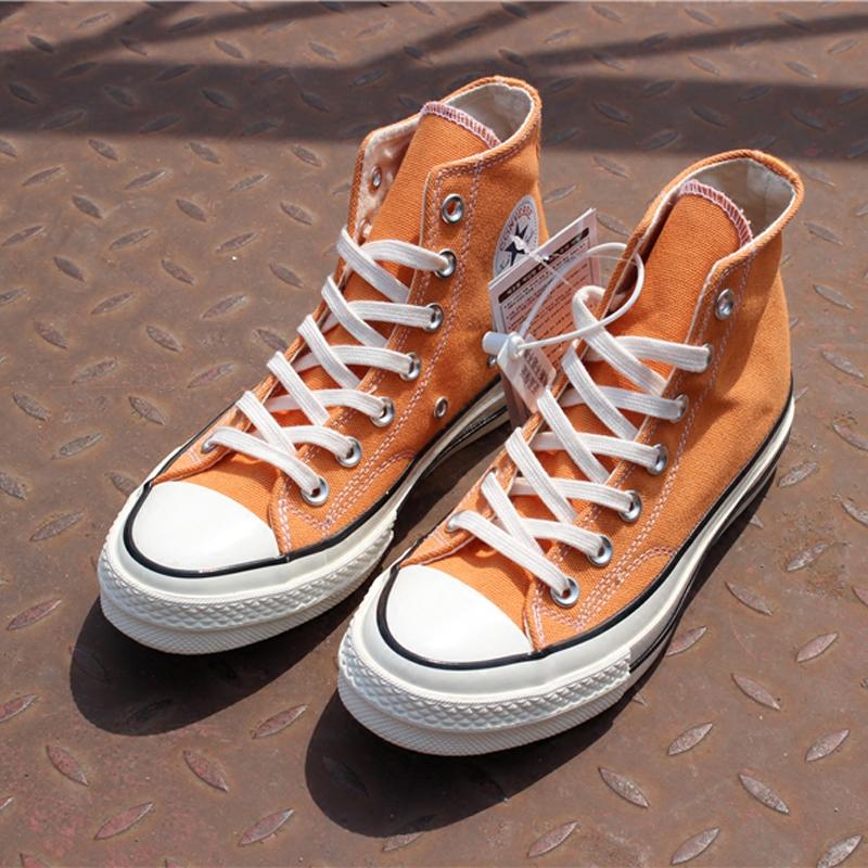 绿色帆布鞋 1970s余文乐三星标橘色紫罗兰丛林绿午夜蓝草绿色高低帮帆布鞋_推荐淘宝好看的绿色帆布鞋