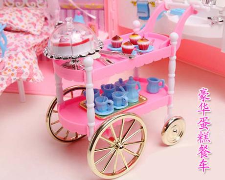 儿童a儿童芭比娃娃甜甜屋过家家别墅梦幻芭比娃娃套装礼物玩具舞蹈兵衣橱视频女孩少儿三图片