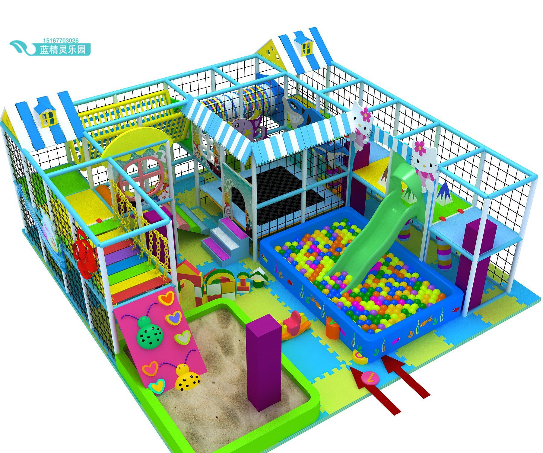淘气堡室内儿童游乐园亲子家庭