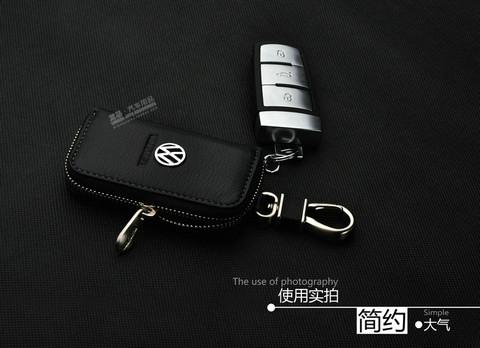 汽车钥匙包大众CC途观新迈腾新速腾新朗逸帕萨特大众钥匙包真皮套高清图片