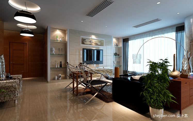 家装装修设计效果图 现代简约 客厅 装潢 农村自建房装修详情