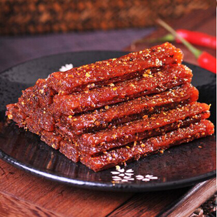 乐熊 香菇素牛肉 酒鬼牛筋 香菇牛肉 特产零食甜辣板筋豆干 18g