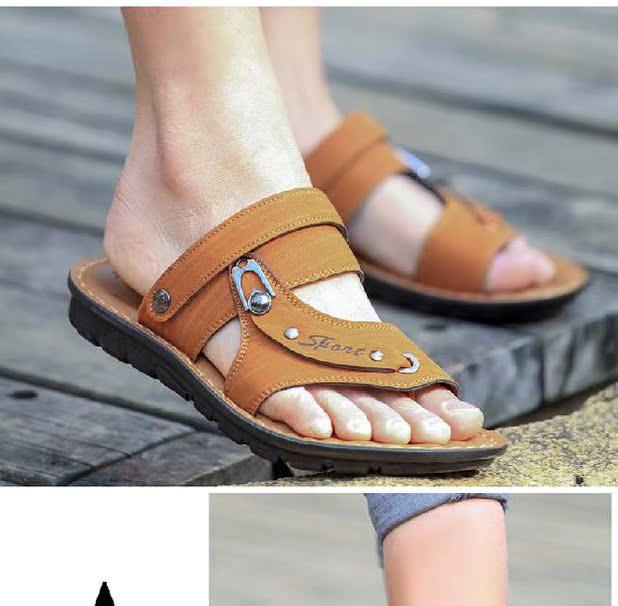 Сандали Летние мужские сандалии и мужская обувь случайные дышащей мужчины Корейский сандалии ног двойного Тапочки Обувь Сити мальчик