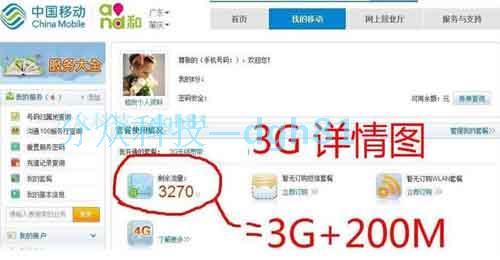 广东移动mifi 3G 6G每月包年流量套餐卡 配中兴荣讯360 4g路由器