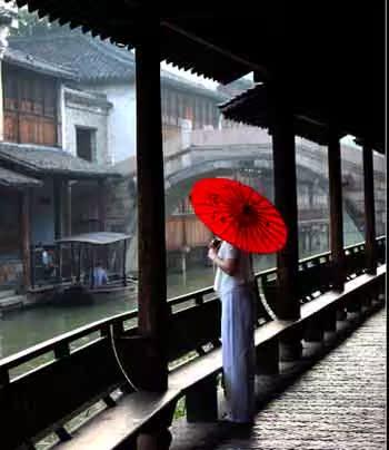 Декоративный зонтик Холл воды зонтик конец века классические Зонты ручная роспись сливы цветение сливы коричневый цвести зонтик пятно пакет электронной почты
