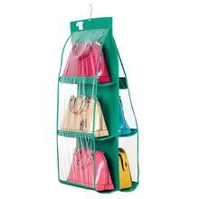 大号6格包包收纳袋 多功能皮包收纳整理挂袋衣柜衣橱储物挂袋包邮