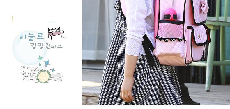 韩国女孩小学生减负书包1 2 3 4 5 6一年级女生大童儿童双肩背包