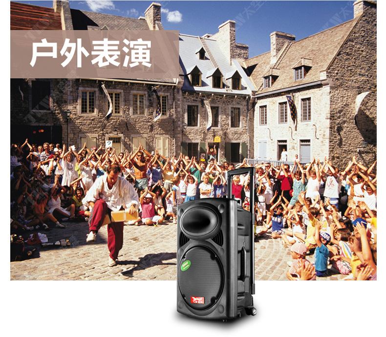 折飞扬移动户外广场舞音响便携式电瓶晨练大功率拉杆音箱 原价1049