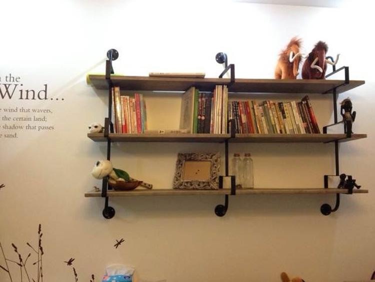 旧实木仿古隔板层板书架支撑架托架包邮