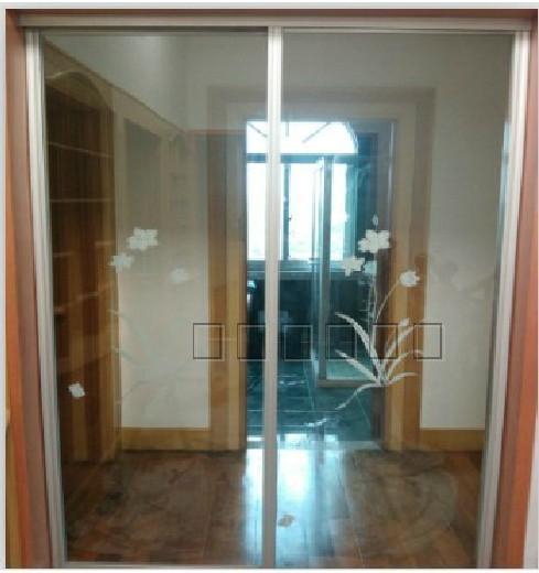 钛镁合金移门 阳台钢化玻璃推拉门 餐厅隔断门 厨房大推拉