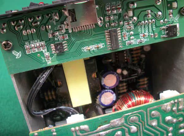 发烧级8寸12寸汽车车载低音炮功放板12v220v插卡音箱主板高清图片
