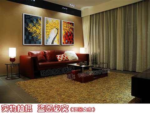 欧式沙发背景墙油画