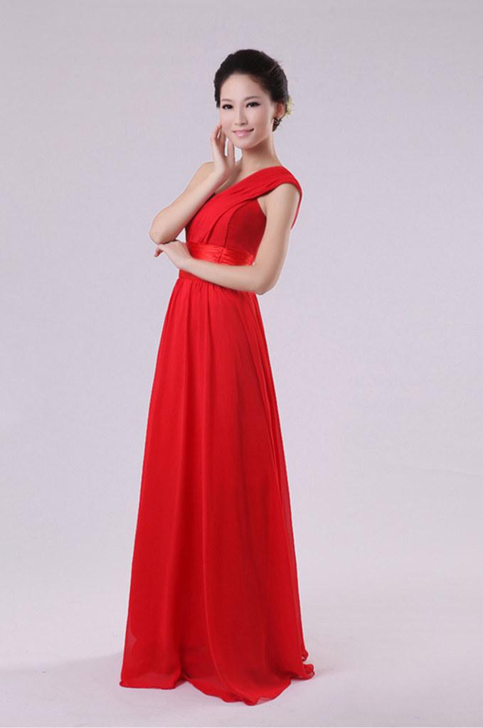 Вечерние платья 2015 году новые горячие продажи шифон одно плечо мини-платье платье свадьба фрейлина сестра платье Выпускной производительности одежда