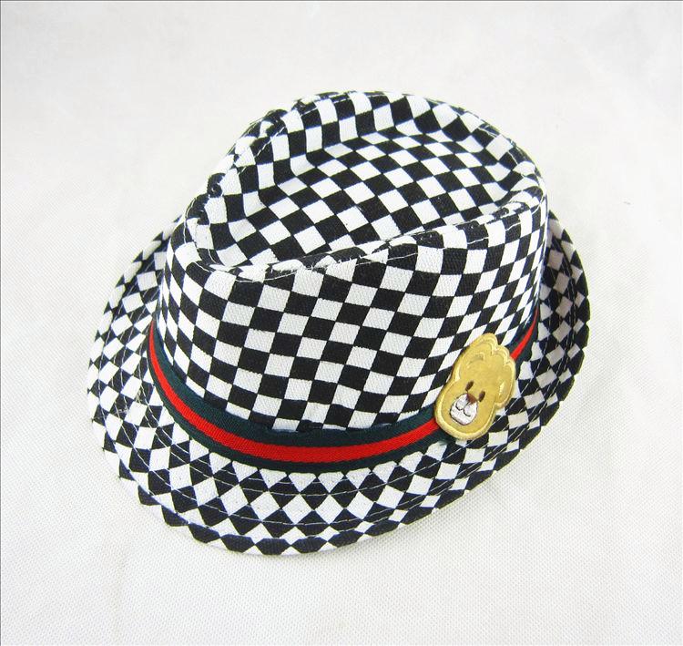 新款韩版潮儿童秋冬季小男女孩礼帽爵士帽复古时尚英伦太阳帽子图片