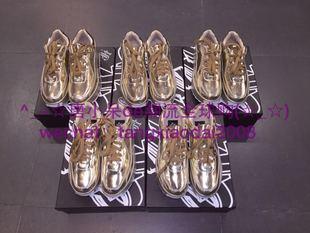 现货实拍 正品 吉田耀司金银松糕鞋 Angelababy同款增高鞋