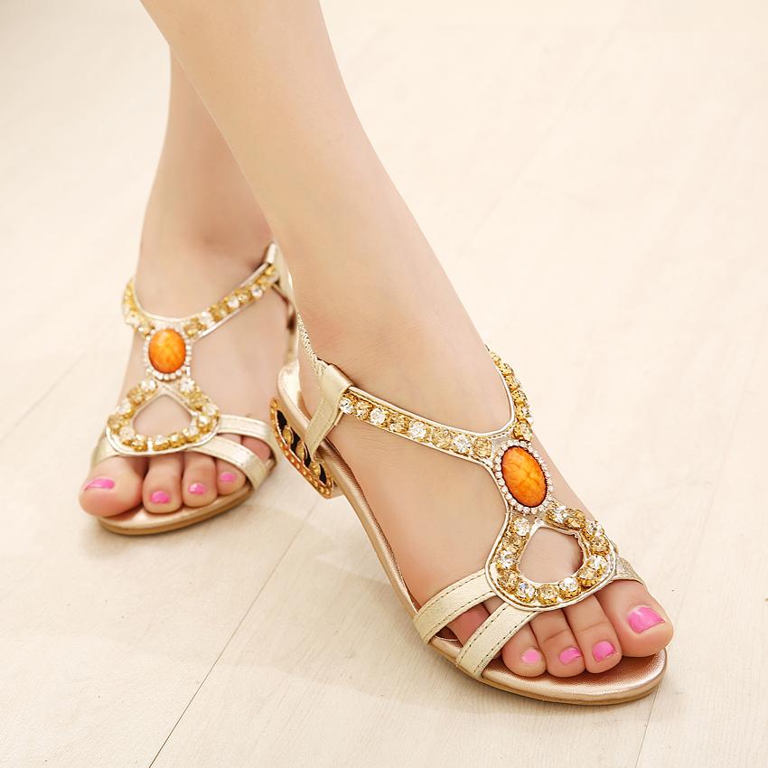 凉鞋女平底鞋罗马