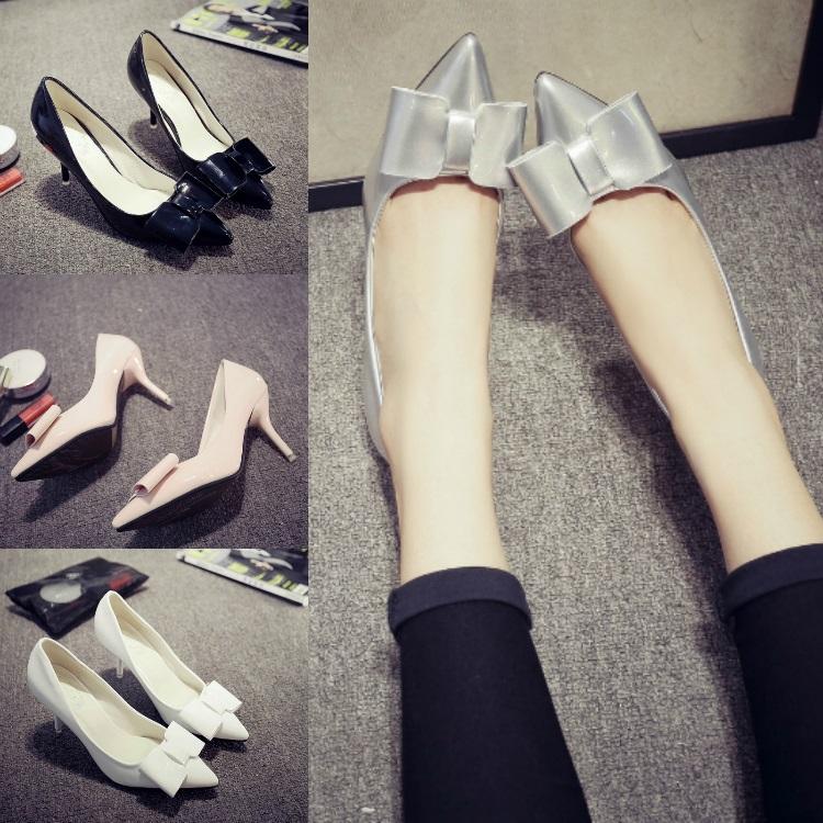季韩版黑色性感尖头细跟羊毛单鞋镂空一字扣高跟鞋毛毛鞋包邮-性感