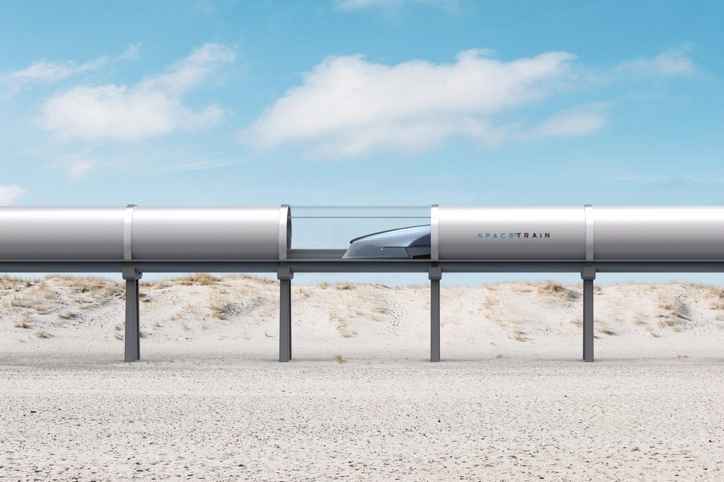 时速高达1200km/h 一份来自未来的铁路设计蓝图