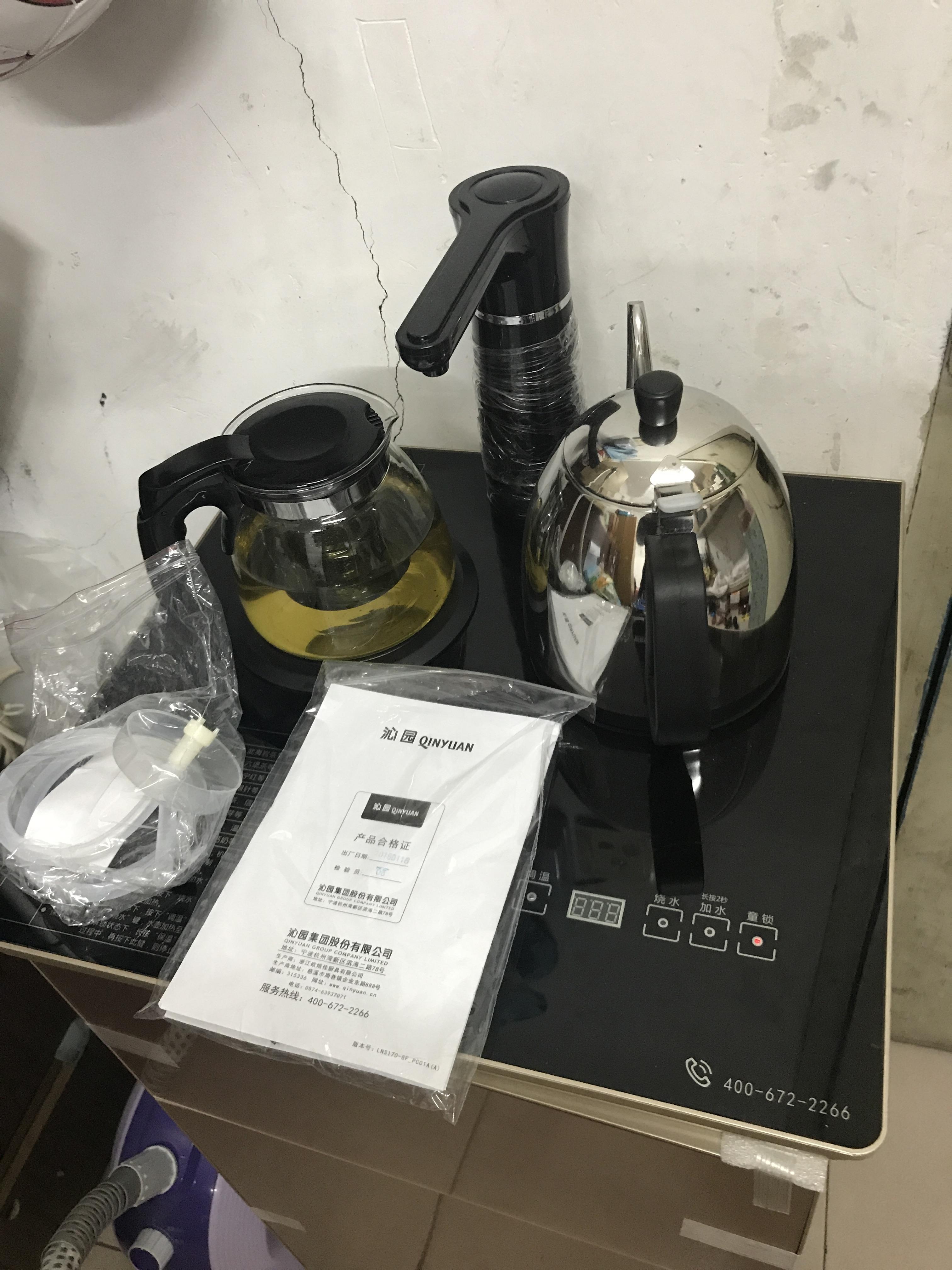 【试用评测】沁园茶吧饮水机 赠净水器及水桶