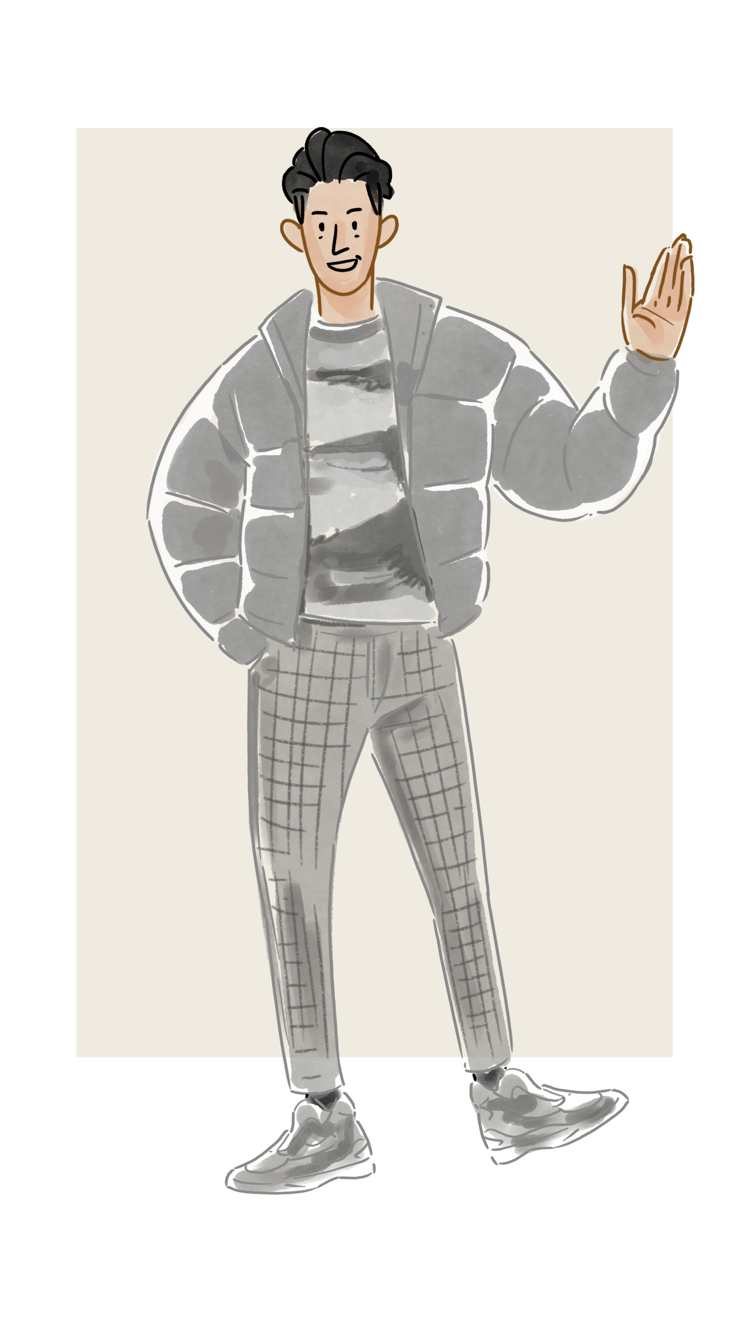 每日穿搭|时髦的灰色
