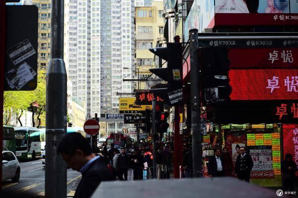 人车匆匆高楼林立香港印象