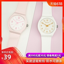 New product, Swiss watch, Korean version, simplified test, watch, waterproof student quartz watch girl jelly electronic watch.