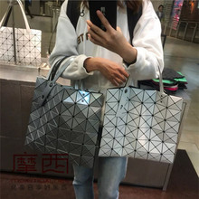 Moses Japan buys ISSEYMIYAKE Miyake's Lifetime Women's Bag Six-grid Six-glinger Pure-color Handbag Shoulder Bag