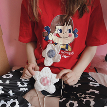Ins cute Panya Flower Bag Children's Fun Mini Flower pocket Student Summer Flower Slant Bag Girl Bag