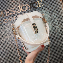Summer Bucket High Sense Baggage Girl 2019 New Transparent Ocean Jelly Chain Fashion Baggage