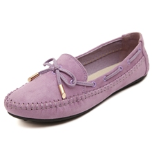 Women Flat Shoes Casual Female Girl Loafers Butterfly-knotted Single Shoes Bean Shoes
